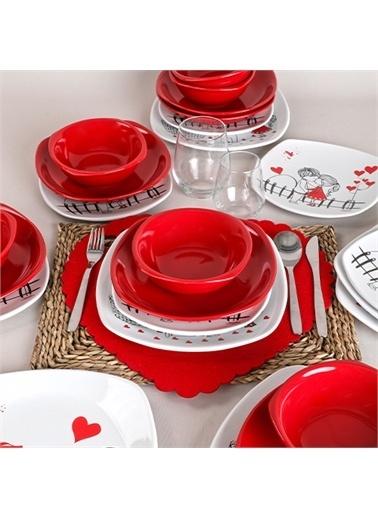 Keramika Kera Mira Yemek Takımı 24 Parça 6 Kişilik Renkli